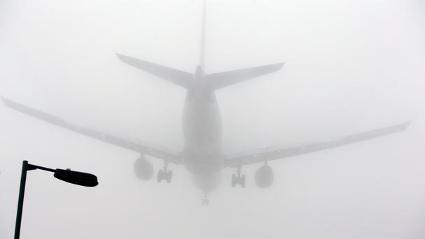 Fog has grounded some flights at Heathrow