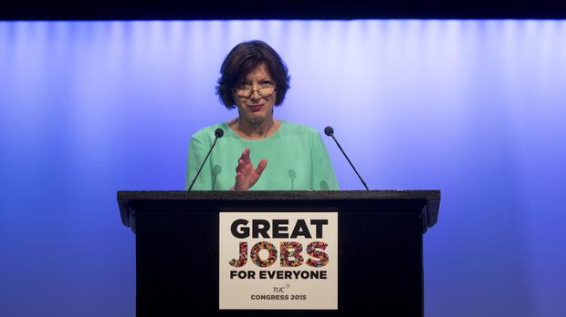 TUC general secretary Frances O'Grady said workers will 'show their opposition to the Trade Union Bill'