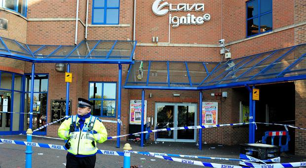 Police outside the Lava and Ignite night club in Northampton after the tragedy