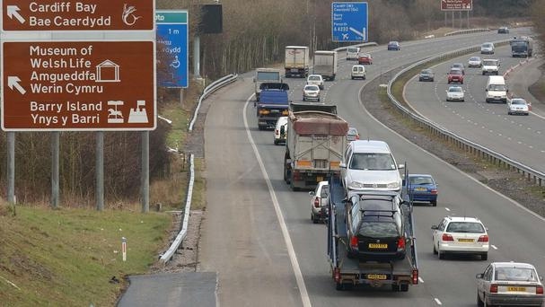 The M4 was shut following the crash