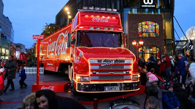 The Coca-Cola truck is touring Britain