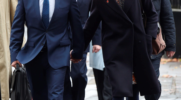 Neil Fox and Vicky Fox arrive at court yesterday