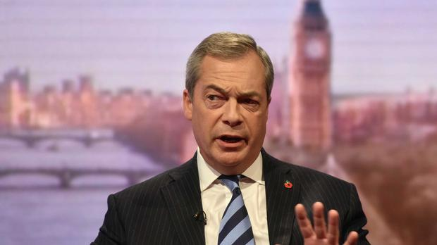 The Ukip leader said the Republican candidate was adopting a