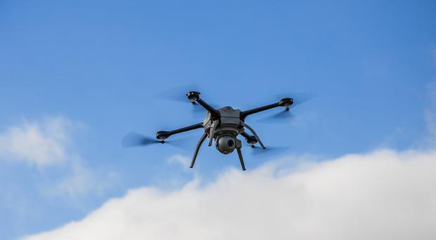 The drone was carrying drugs and SIM cards