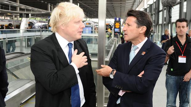 London mayor Boris Johnson, left, and Lord Coe
