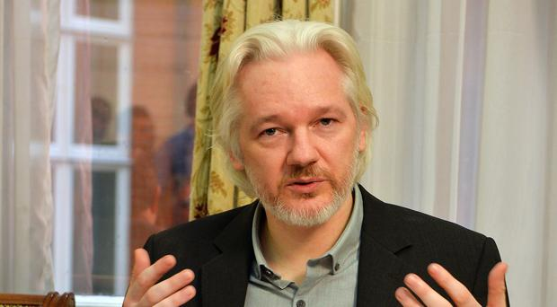 Julian Assange appeared before the Cambridge Union by video-link from the Ecuadorian embassy in London