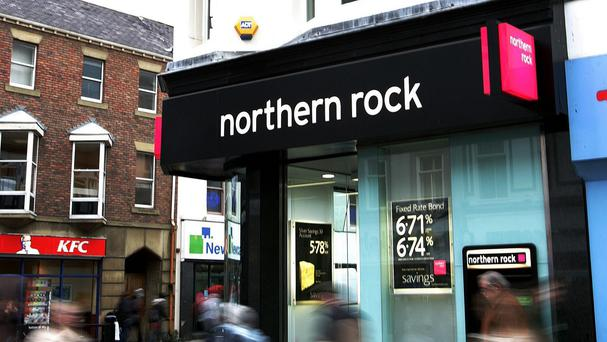 A former Northern Rock bank, as the Government has sold £13bn of Northern Rock mortgages to investment firm Cerberus Capital Management