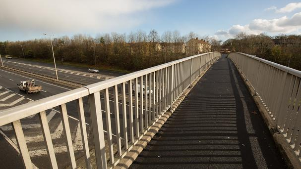The bridge over the A1 in East Denton, Newcastle