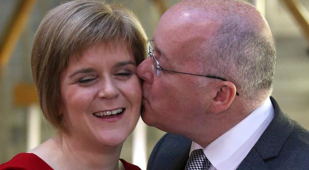 Nicola Sturgeon said My Love Is Like A Red Red Rose was played as she tied the knot with SNP chief executive Peter Murrell