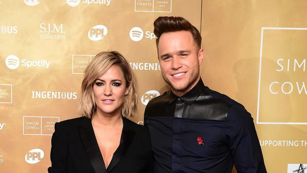 Olly Murs with The X Factor co-host Caroline Flack