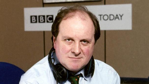 Presenter James Naughtie was overheard swearing on the BBC Radio 4 Today programme