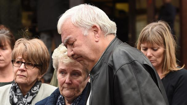 John and Marilyn Payne, parents of Nicola Payne, outside Birmingham Crown Court