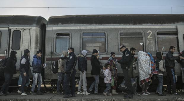 Refugees near Dimitrovgrad, amid reports of mistreatment of individuals, including a man who sold a kidney to pay for his passage to Europe (Oxfam/PA)