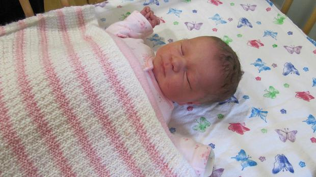 Emergency services were called after staff found baby April abandoned inside disabled toilets