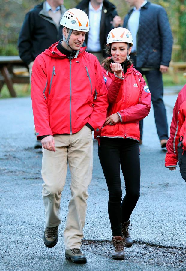 Prince William and the Duchess of Cambridge visit the Towers Residential Outdoor Education Centre in Capel Curig, an outdoor education centre providing adventure activities for children