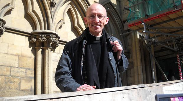 The Bishop of Chichester, Dr Martin Warner, will lead prayers at the service for the 11 men killed in the Shoreham air crash