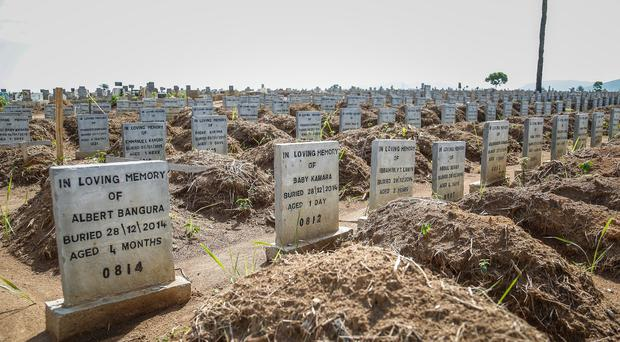 The graves of Ebola victims in Freetown, Sierra Leone (Department for International Development/PA)