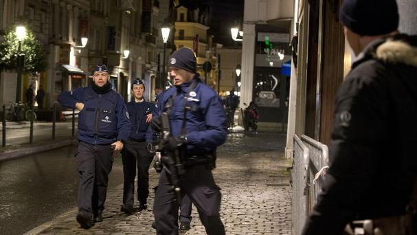 One of the anti-terror operations in the centre of Brussels (AP)