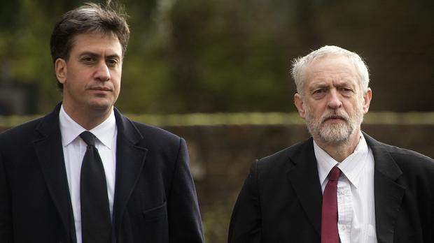 Ed Miliband, left, says his successor as Labour leader Jeremy Corbyn is fit for the role of prime minister - but it is 'a matter for the electorate' to decide whether he gets the job