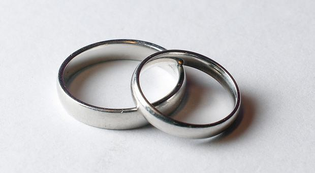 The number of couples divorcing in England and Wales fell again except with the over-50s group which showed an increase