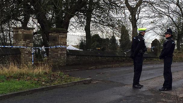 Raids were carried out in connection with the thefts from a grave in Metal Bridge Cemetery, County Durham