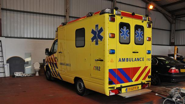 A fake ambulance used to smuggle cocaine, heroin and ecstasy into the UK