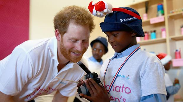 Prince Harry was in Lesotho this week to open the new Mamohato Children's Centre in Maseru (Sentebale/PA Wire)