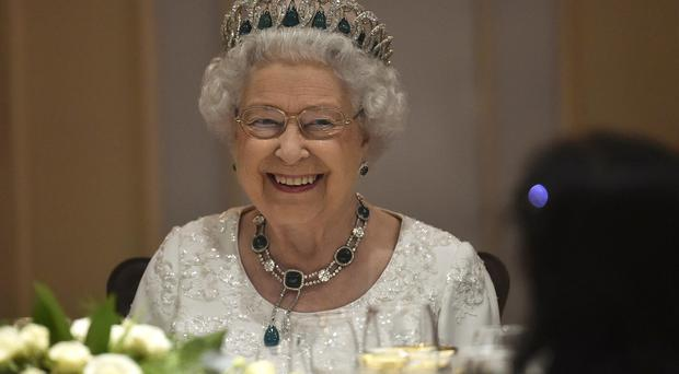 The Queen at the Corinthia Palace Hotel in Attard, Malta