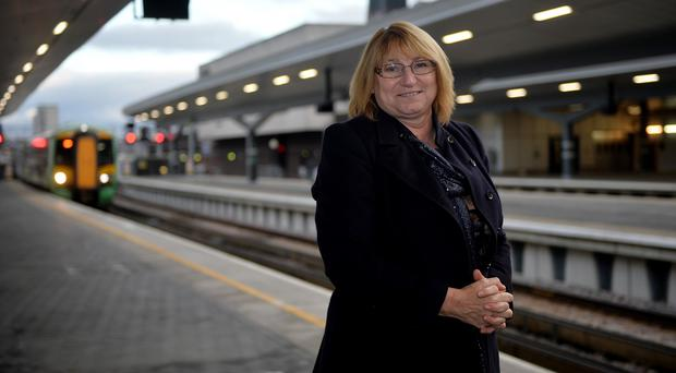 Tina Hughes, the mother of Olivia Bazlinton, at London Bridge station ahead of the 10th anniversary of her daughter's death