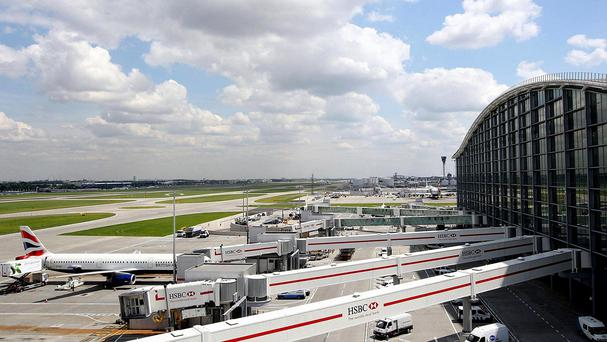 A general view of Terminal 5 at Heathrow Airport