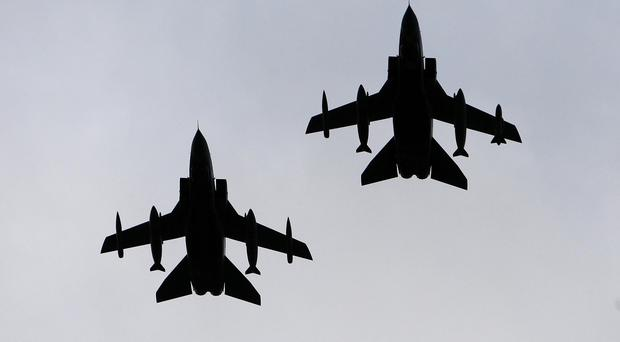 RAF war planes are gearing up to launch air strikes against the militants in their heartland