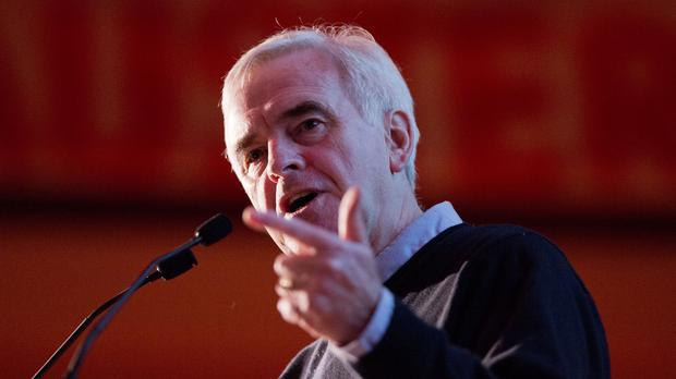 John McDonnell said 'the same failed institutions we had before the crash I believe are all set to fail again'