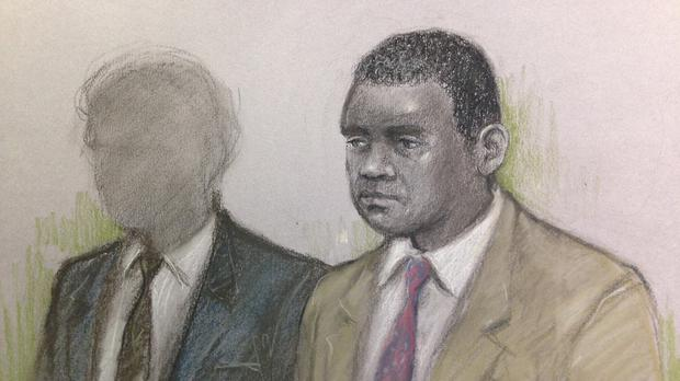 Court artist sketch of Kevin Wilson (right) and a 17-year-old youth, who cannot be named for legal reasons, at the Old Bailey.