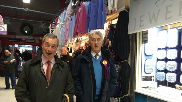 Nigel Farage and candidate John Bickley hope Ukip can stage an upset