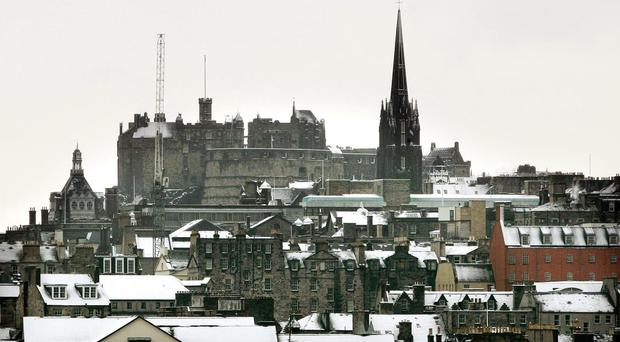Parts of Edinburgh and routes in Midlothian and the Scottish Borders were among the worst affected by the snowfall