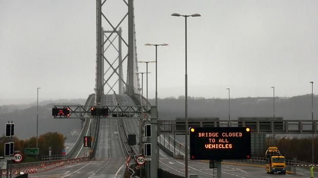 The Forth Road Bridge is closed to all traffic until January