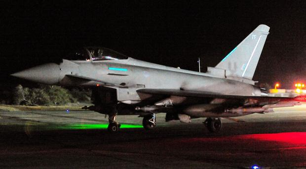 RAF Typhoons have began combat missions against IS over Syria and Iraq