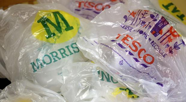 The Government introduced a 5p levy on supermarket carrier bags in October this year in a bid to reduce non-recyclable litter