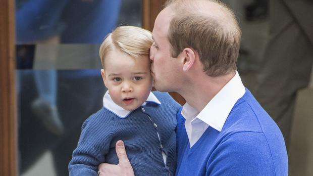 The Duke of Cambridge with his son Prince George