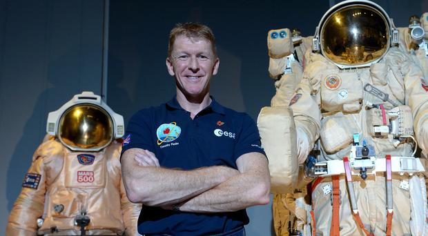 Major Peake chose the design after more than 3,000 children entered a competition on BBC TV's Blue Peter