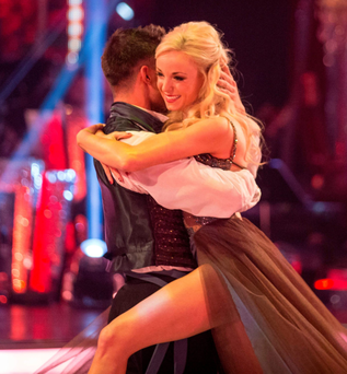 Aljaz Skorjanec and Helen George are out of the show