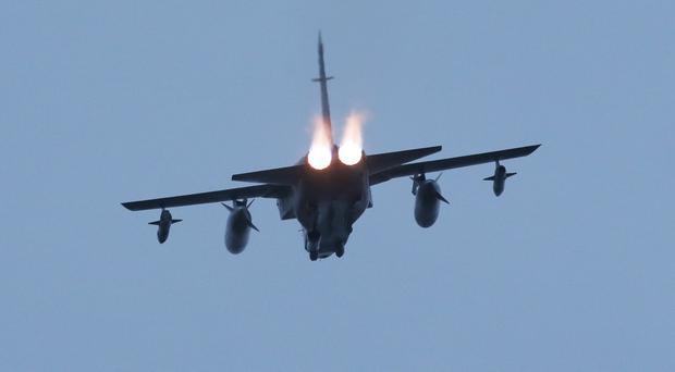 Typhoon fighter jets from RAF Lossiemouth joined in strikes at key oil wellheads in eastern Syria