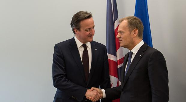 David Cameron with President of the European Council, Donald Tusk, who says there is
