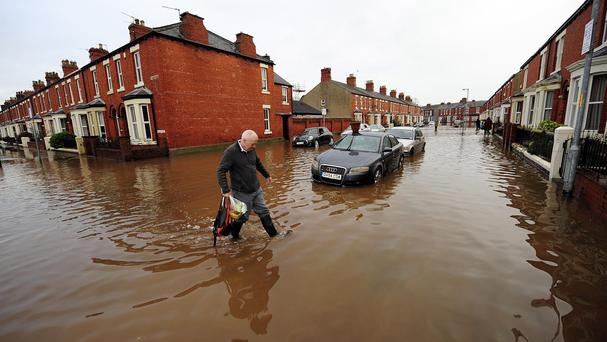 Streets in Carlisle, where the flooding was particularly severe