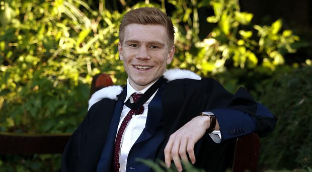 England under 21 and Sunderland forward Duncan Watmore has graduated with First Class Honours from Newcastle University