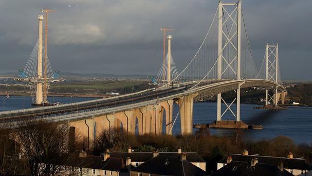 Some heavy loads were banned from crossing the Forth Road Bridge