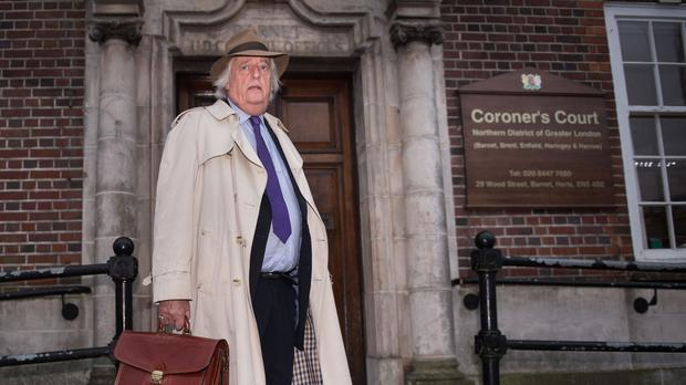 Michael Mansfield QC arrives at North London Coroner's Court for the inquest into his daughter Anna's death