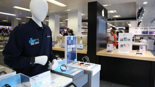 A Dixons Carphone store on Oxford Street, as the retailer announced half-year profits surged by nearly a quarter