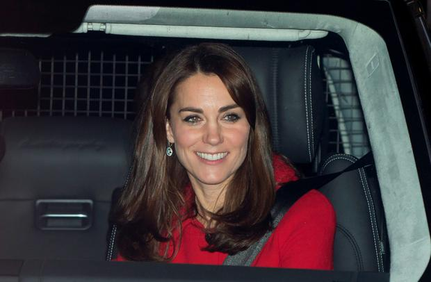 The Duchess of Cambridge leaving Buckingham Palace following the Queen's Christmas lunch yesterday