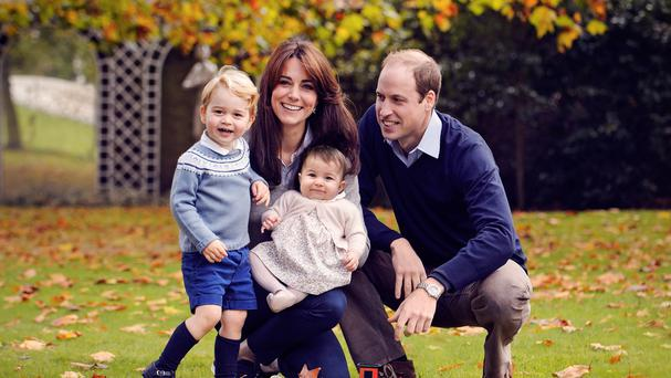 The Duke and Duchess of Cambridge with Prince George and Princess Charlotte, in a photograph taken late October at Kensington Palace (Chris Jelf/PA)